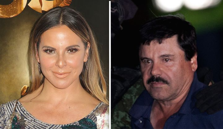 "Mexican actress Kate del Castillo, left, and Mexican drug lord Joaquin ""El Chapo"" Guzman struck up a friendship in 2012."
