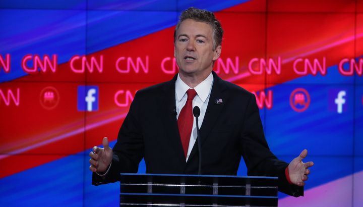 "Yes, Rand Paul (above) could find himself ""stuck"" with supporting Donald Trump."
