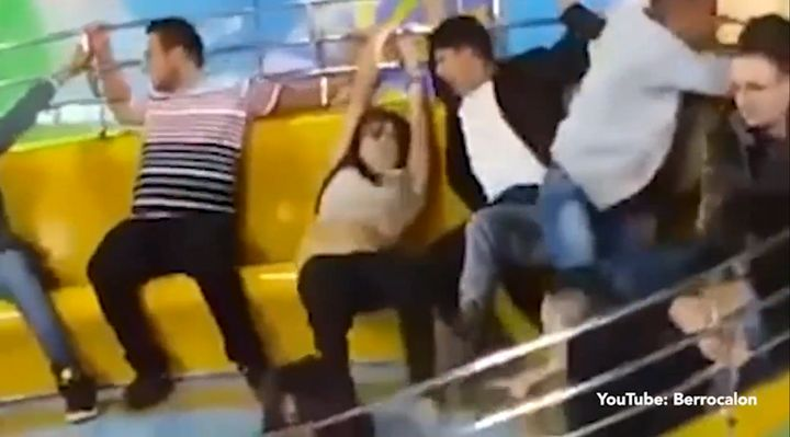 Woman Loses Pants On Carnival Ride