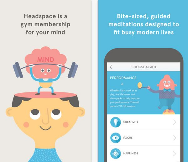 "<a href=""https://www.headspace.com/headspace-meditation-app"" target=""_blank"">Headspace</a> is all about making meditation sim"