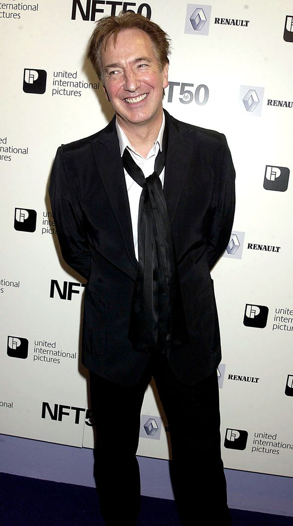 Alan Rickman, The 50th Anniversary Gala Of The National Film Theatre, At The National Film Theatre, London, 2002 (Photo by Da