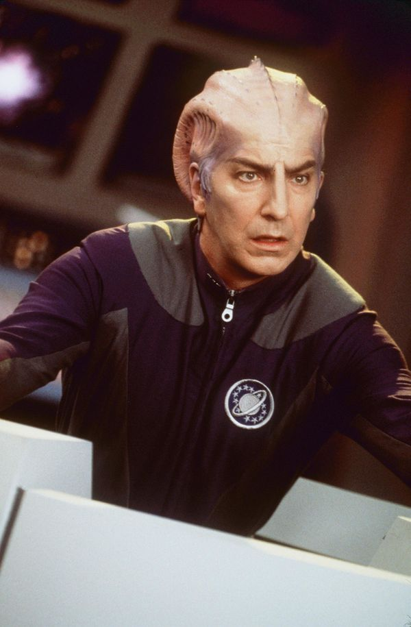 "1999 Alan Rickman stars in the comedy ""Galaxy Quest."" (Photo: Dreamworks)"