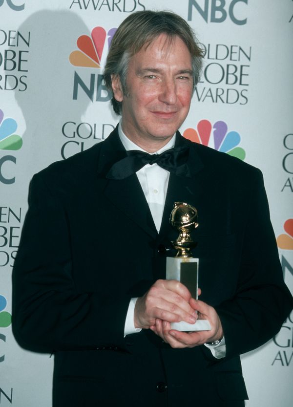 Actor Alan Rickman attending the 54th Annual Golden Globe Awards on Jan. 19, 1997, at the Beverly Wilshire Hotel in Beverly H