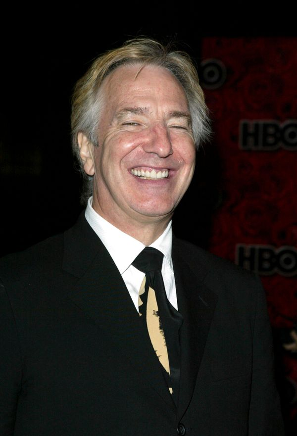 Actor Alan Rickman arrives at HBO's post Emmy party following the 56th annual primetime Emmy Awards held at the Pacific Desig