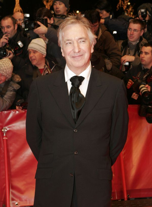 "Alan Rickman during 56th Berlinale International Film Festival - ""Snow Cake"" Premiere in Berlin, Germany. (Photo by Kurt Vini"