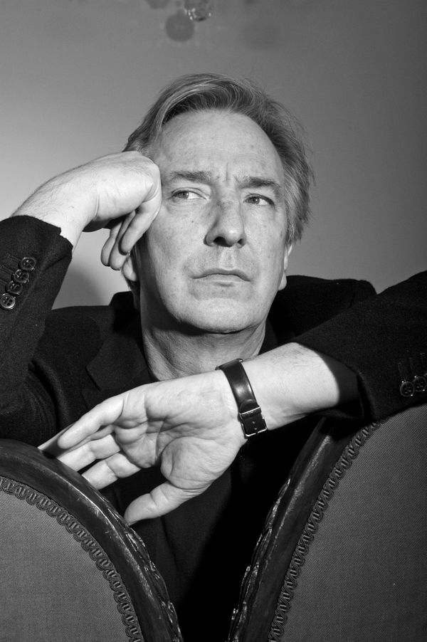 Alan Rickman poses during a photo call held on March 9, 2004, at his home in London, England. (Photo by Cambridge Jones/Getty