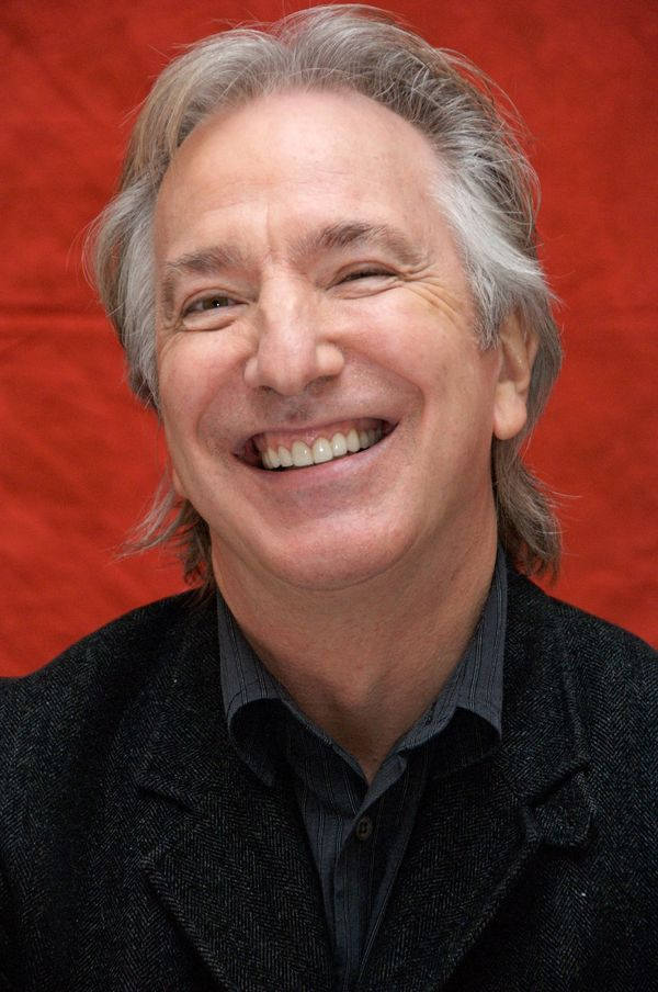 "Actor Alan Rickman at ""Sweeney Todd: The Demon Barber of Fleet Street"" press conference at Claridges Hotel in London, England"