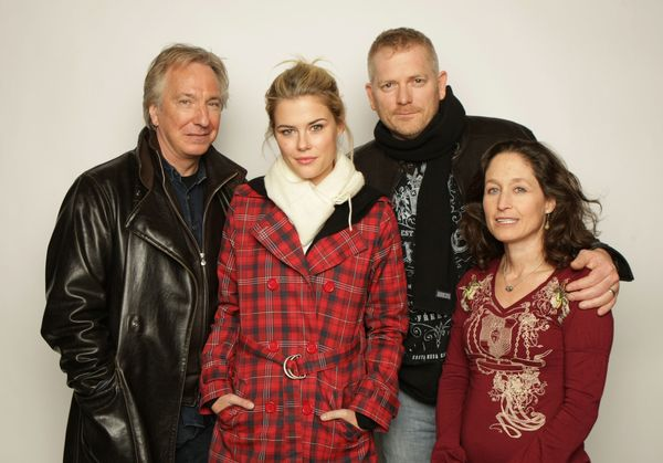 "Actor Alan Rickman, actress Rachael Taylor, writer/director Randall Miller and producer Jody Savin from the film ""Bottle Shoc"