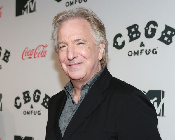 "Actor Alan Rickman attends ""CBGB"" US Premiere Opening Night at Landmark Sunshine Cinema on October 8, 2013, in New York City."