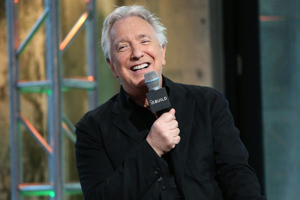 Actor Alan Rickman speaks at AOL Build Speaker Series at AOL Studios In New York on June 19, 2015 in New York City. (Photo by