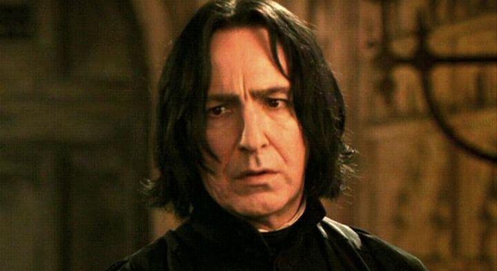 Alan Rickmanas Professor Snape.