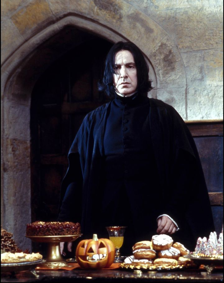 "Alan Rickman as Professor Snape in ""Harry Potter and the Sorcerer's Stone"" in November 2001."
