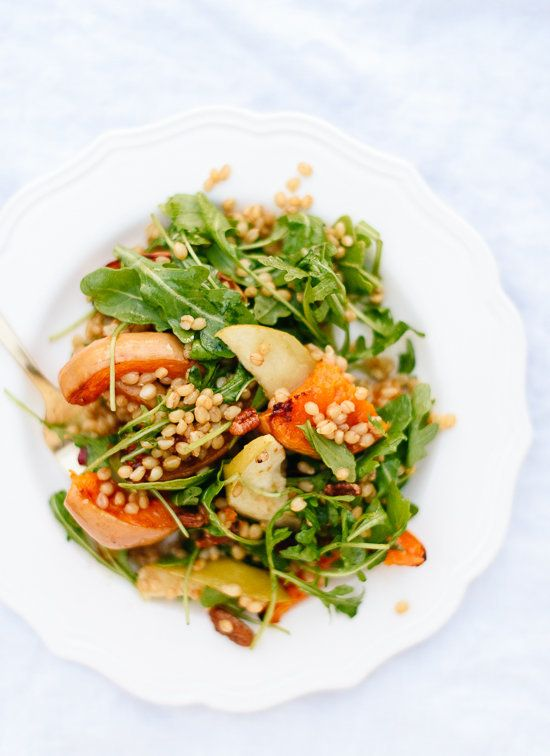 "<strong>Get the <a href=""http://cookieandkate.com/2015/roasted-butternut-squash-apple-salad-recipe/"" target=""_blank"">Hearty R"
