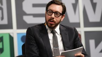AUSTIN, TX - MARCH 11:  Jjournalist Joshua Topolsky speaks onstage at the Julie Uhrman + Josh Topolsky Keynote during the 2013 SXSW Music, Film + Interactive Festival at Austin Convention Center on March 11, 2013 in Austin, Texas.  (Photo by Hutton Supancic/Getty Images)