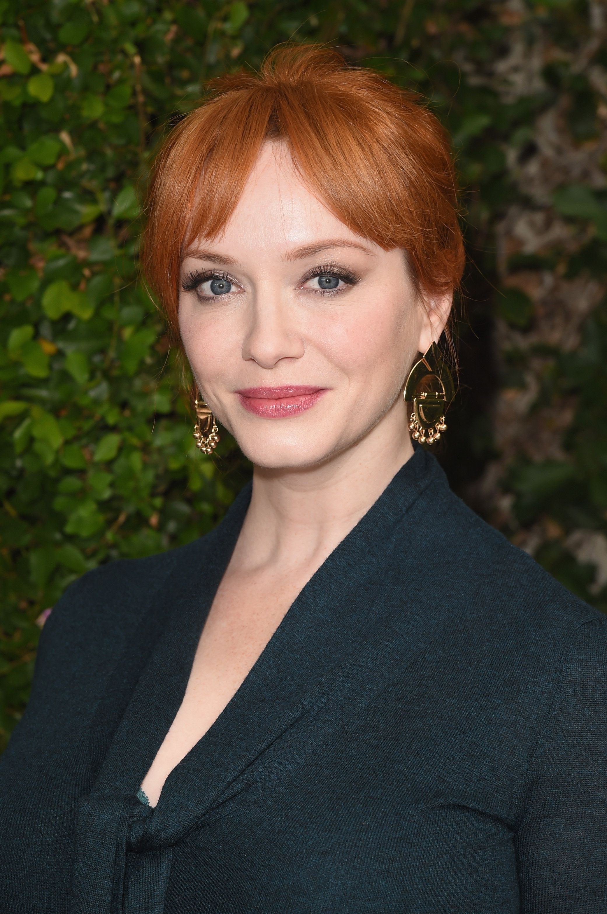 BEVERLY HILLS, CA - OCTOBER 04:  Actress Christina Hendricks attends The Rape Foundation's annual brunch at Greenacres, The Private Estate of Ron Burkle on October 4, 2015 in Beverly Hills, California.  (Photo by Jason Merritt/Getty Images for The Rape Foundation)