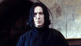 UNITED STATES - NOVEMBER 01:  Film 'Harry Potter and the philosopher's stone' In United States In November, 2001-Professor Snape (Alan Rickman).  (Photo by 7831/Gamma-Rapho via Getty Images)
