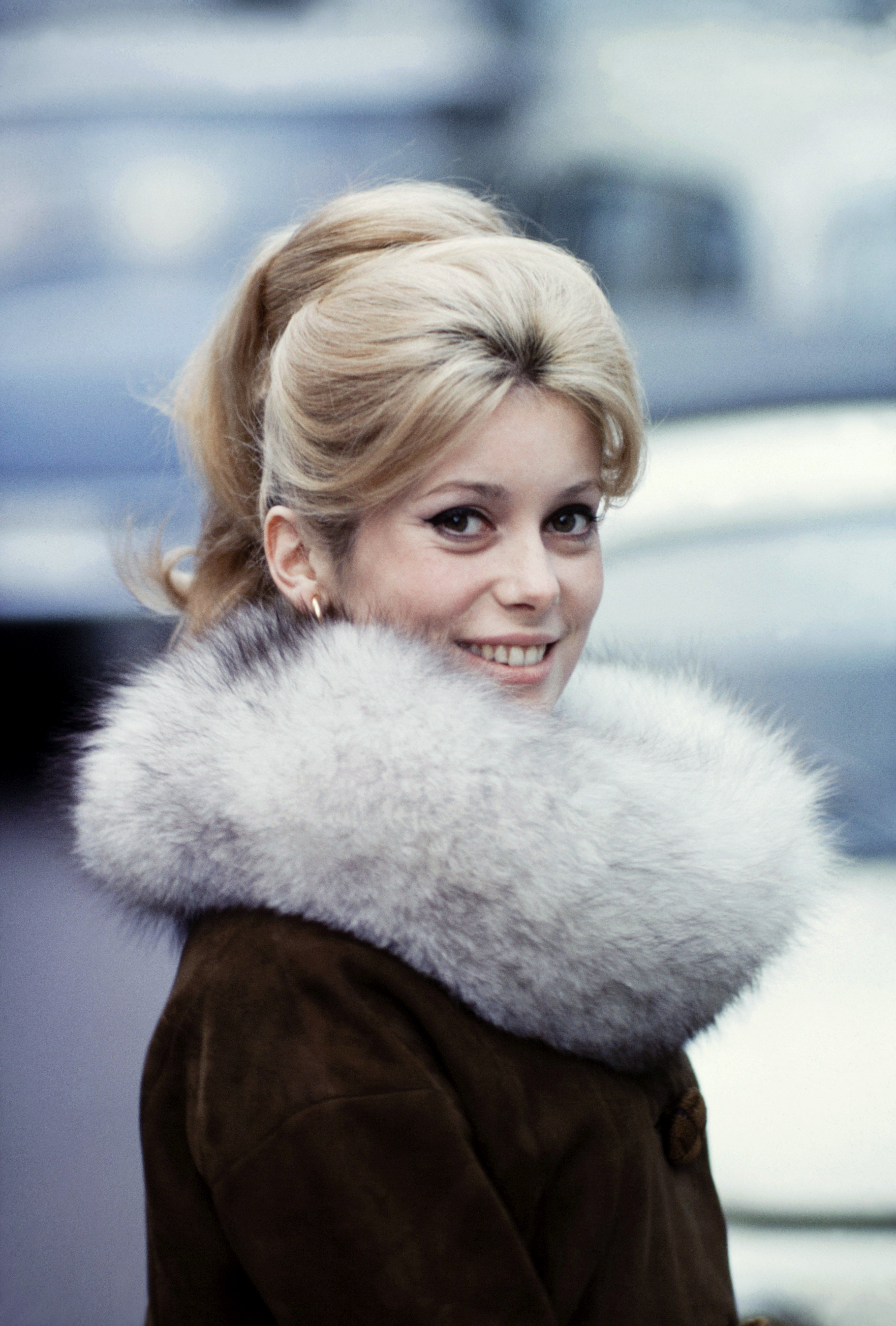 FRANCE - NOVEMBER 01:  Files Pictures of French Actress Catherine Deneuve In France In November, 1963-Files pictures of French actress Catherine Deneuve in November, 1963.  (Photo by PAT/Gamma-Rapho via Getty Images)