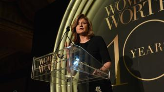 NEW YORK, NY - DECEMBER 01:  Arianna Huffington speaks onstage at the L'Oreal Paris Women of Worth 2015 Celebration - Inside at The Pierre Hotel on December 1, 2015 in New York City.  (Photo by Larry Busacca/Getty Images for L'Oreal Paris)