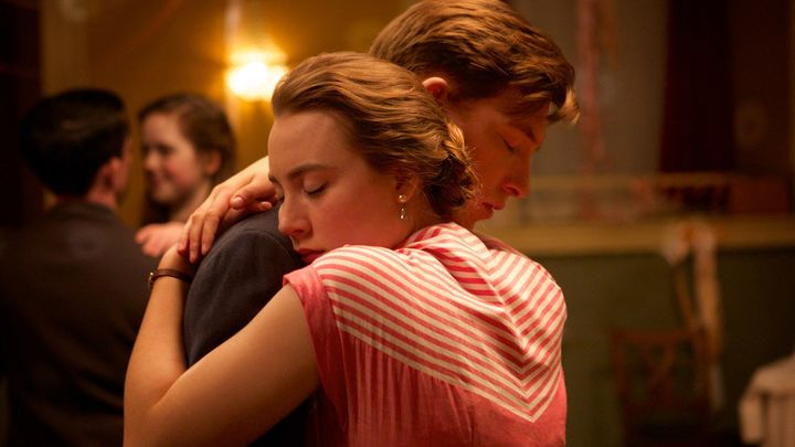 "Saoirse Ronan and Domhnall Gleeson star in a scene from ""Brooklyn."""