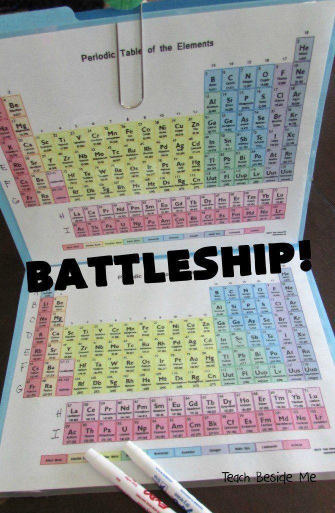 Mom creates periodic table battleship game to teach her kids you sunk my battleship made of cobalt rhodium iridium and meitnerium urtaz Gallery