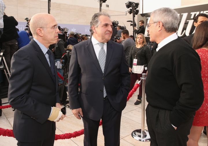 DreamWorks Animation CEO Jeffrey Katzenberg, Chairman and CEO of 20th Century Fox Jim Gianopulos, and Vice Chairman, NBCUnive