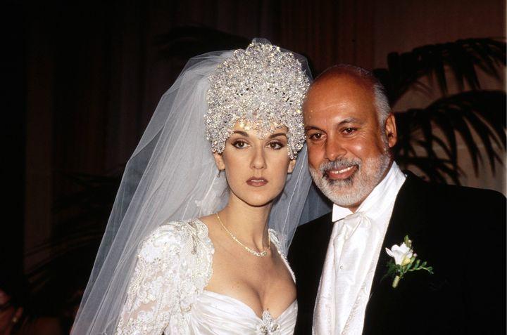 Celine Dion andRene Angelil wed on Dec. 17, 1994.