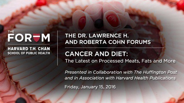 Huffington Post and Harvard discuss the latest research on the link between what we eat and whether we get cancer.