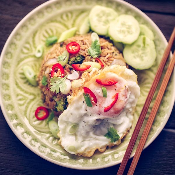 """We'll start off simple-- <a href=""""http://www.saveur.com/article/Recipes/Classic-Indonesian-Fried-Rice"""" target=""""_blank"""">"""