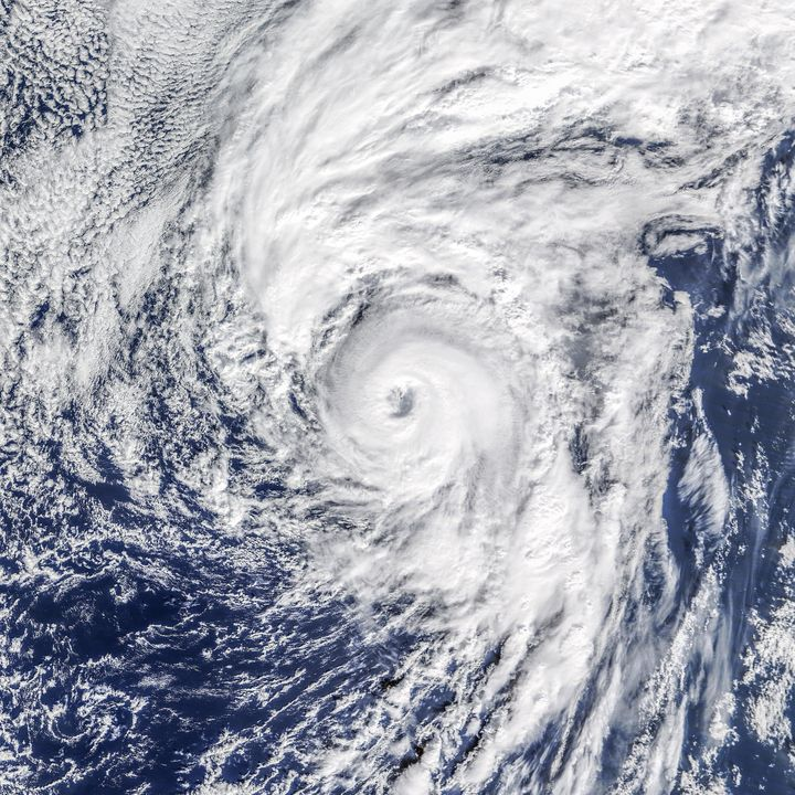 A photo of Hurricane Alex taken by NASA's Terra satellite.