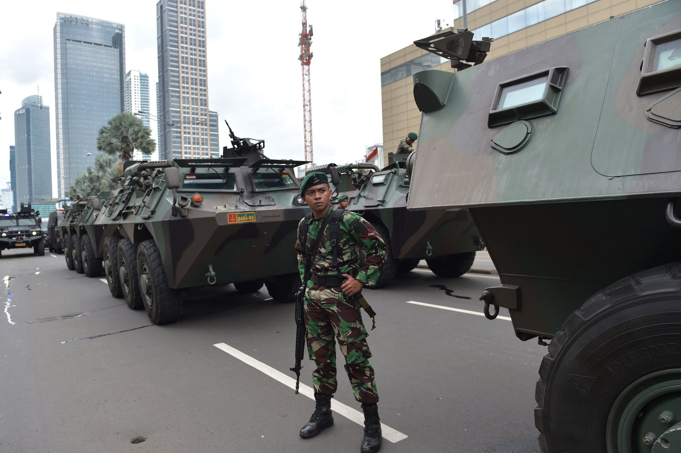 Seven people were killed in Thursday's late-morning siege near Jakarta's busy shopping district.