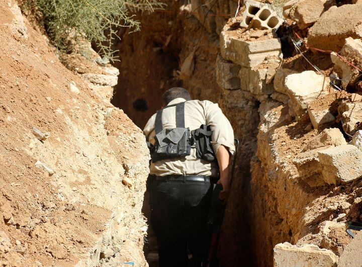 Residents living in areas under Syrian government siege have started to use rebel-held underground tunnels to escape or get p