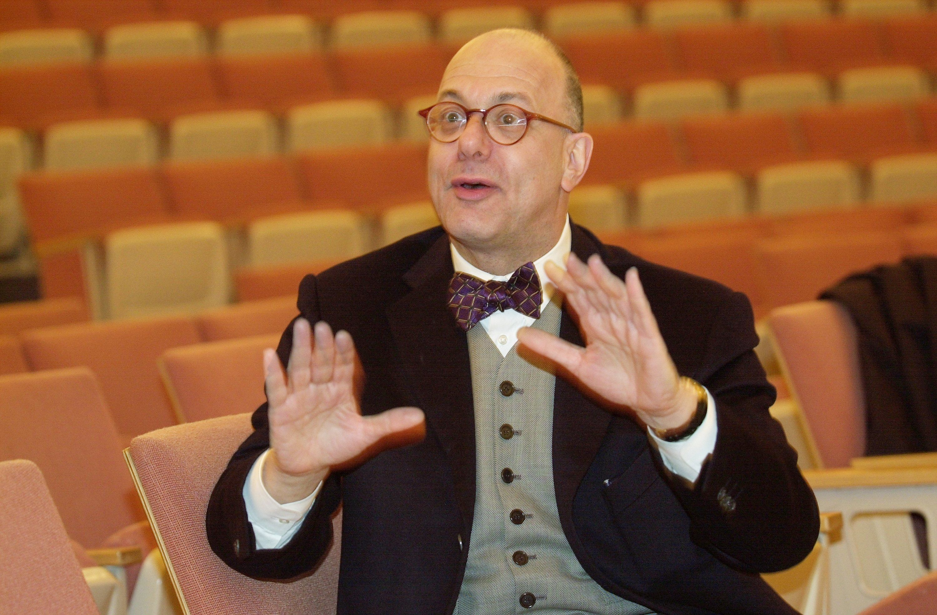 UNITED STATES - FEBRUARY 02:  Leon Botstein, president of Bard College and music director of the American Symphony Orchestra, at the Jewish Theological Seminary in Morningside Heights.  (Photo by David Handschuh/NY Daily News Archive via Getty Images)