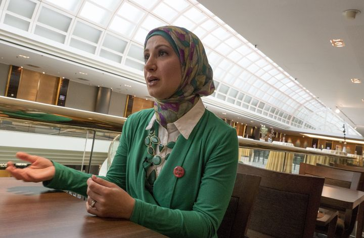 Sarah Hekmati, the sister of Amir Hekmati, speaks to journalists in Vienna, Austria, on June 29, 2015. Amir Hekmati