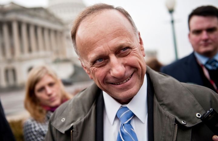 Rep. Steve King (R-Iowa) initially didn't think he could come up with something positive to say about Obama, but in the end he worked it out.