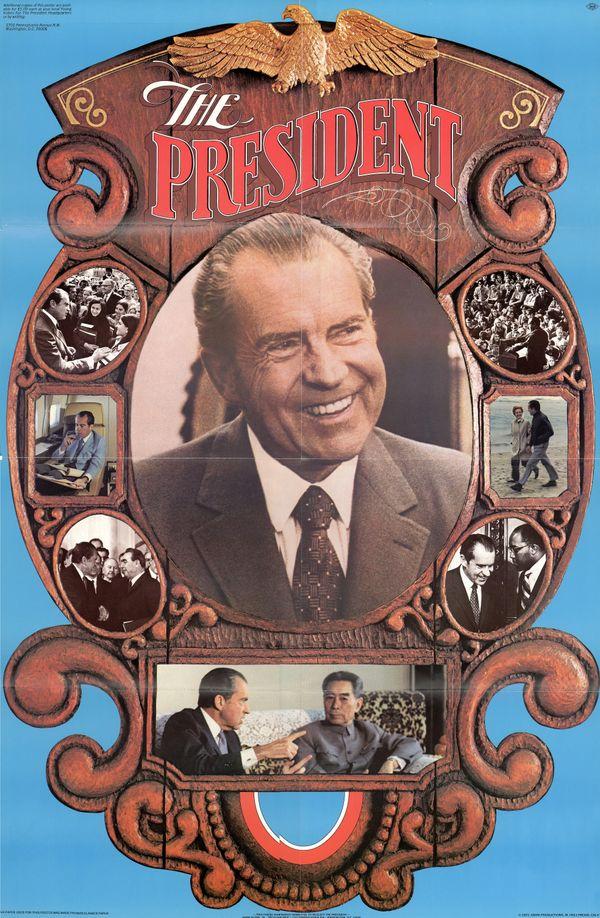 Campaign poster forRichard Nixon, circa 1972.