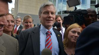 RICHMOND, VA - SEPTEMBER 3: Former Governor Bob McDonnell departs the courthouse after a second day of jury deliberations in the federal corruption trial of former Virginia Governor Bob McDonnell and his wife Maureen, on September, 03, 2014 in Richmond, VA. (Photo by Bill O'Leary/The Washington Post via Getty Images)