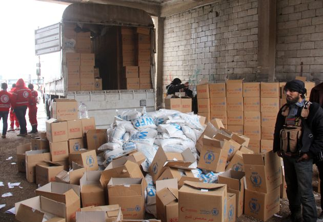 The Syrian regime profits heavily through selling some of the aid that gets in through the Syrian Arab...