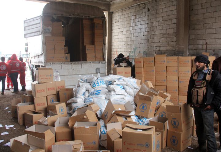 The Syrian regime profits heavily through selling some of the aid that gets in through the Syrian Arab Red Crescent, but also