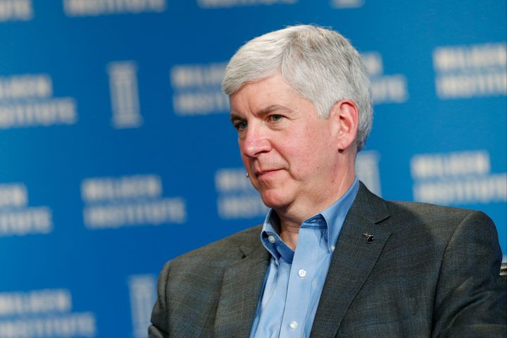 A spokesman for Rick Snyder said the Michigan governor didn't become aware of the blood lead issue until October.