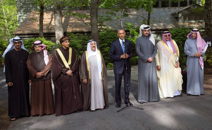 President Barack Obama met with leaders at the Gulf Cooperation Council-U.S. summit in May 2015 at Camp David, Maryland,