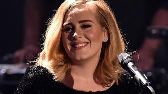 COLOGNE, GERMANY - DECEMBER 06:  Adele attends the television show 2015! Menschen, Bilder, Emotionen - RTL Jahresrueckblick on December 6, 2015 in Cologne, Germany.  (Photo by Sascha Steinbach/Getty Images)