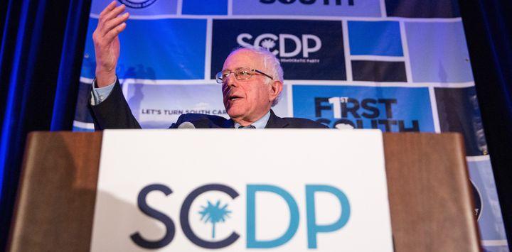 Democratic presidential hopeful Sen. Bernie Sanders (I-Vt.) announced his support for gun-related legislation just before he
