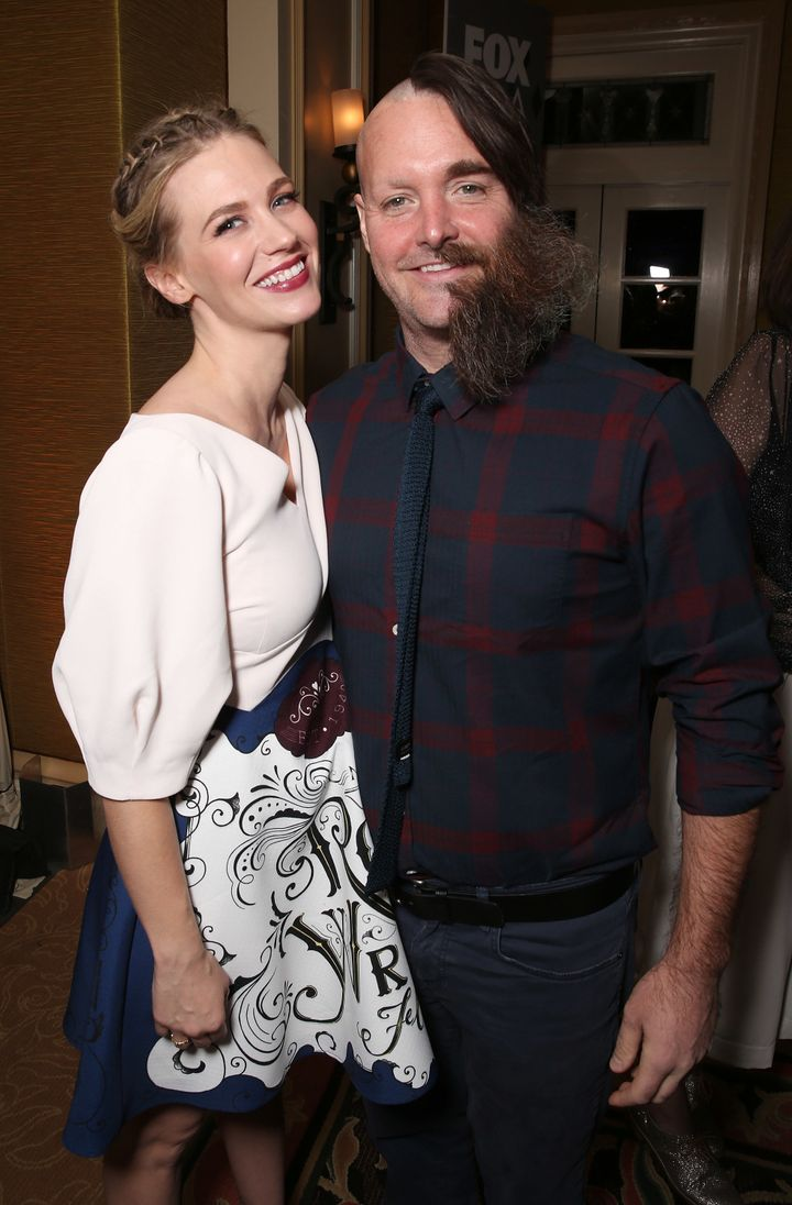 Will Forte, seen with January Jones, is taking fashion statements to the next level.