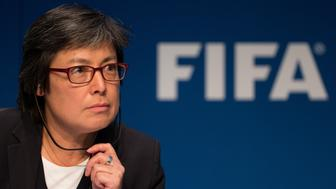 ZURICH, SWITZERLAND - DECEMBER 03: FIFA Executive Member Moya Dodd attends a FIFA Executive Committee Meeting Press Conference at the FIFA headquarters on December 3, 2015 in Zurich, Switzerland. (Photo by Philipp Schmidli/Getty Images)