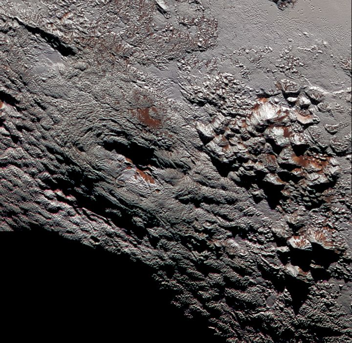 A large feature on Pluto is believed to be a volcano -- except this one spewed ice.