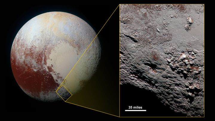 "The ice volcano, also known as a cryovolcano, is located near Pluto's ""heart."""