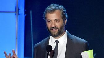 SANTA MONICA, CA - JANUARY 17:  Director Judd Apatow speaks onstage during the 21st Annual Critics' Choice Awards at Barker Hangar on January 17, 2016 in Santa Monica, California.  (Photo by Lester Cohen/WireImage)