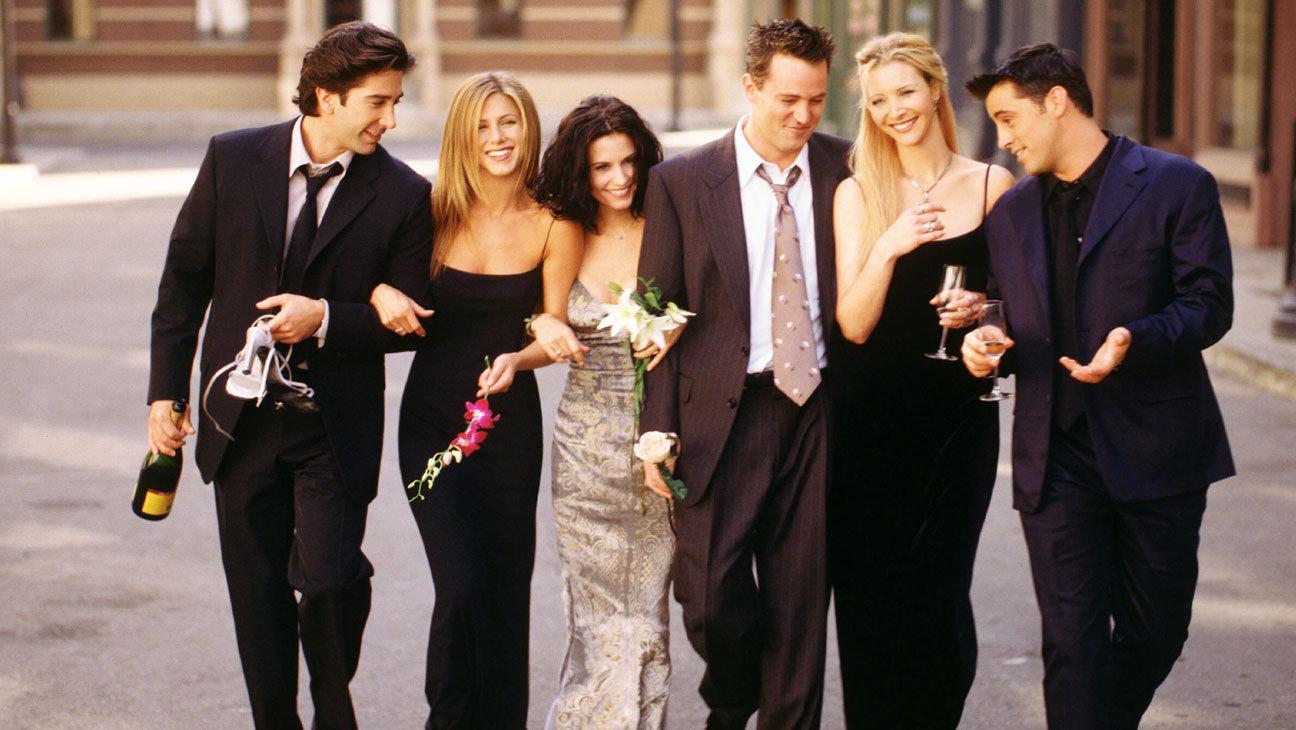FRIENDS (NBC) season 61999-2000Shown: David Schwimmer (as Ross Geller,) Jennifer Aniston (as Rachel Green), Courteney Cox (as Monica Geller), Matthew Perry (as Chandler Bing), Lisa Kudrow (as Phoebe Buffay), Matt LeBlanc (Joey Tribbiani)