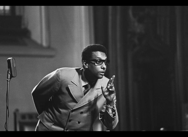 Trinidadian-American Civil Rights activist Stokely Carmichael (later known as Kwame Toure, 1941 - 1998) at City College of Ne