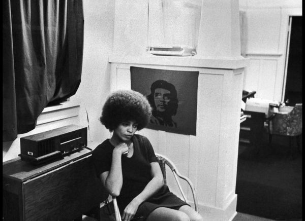 American activist Angela Davis, shortly after she was fired from her post as philosophy professor at UCLA due to her membersh